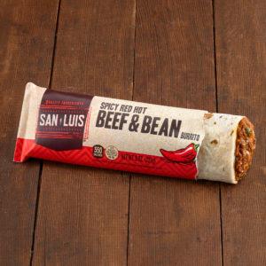 spicy-beef-bean burrito
